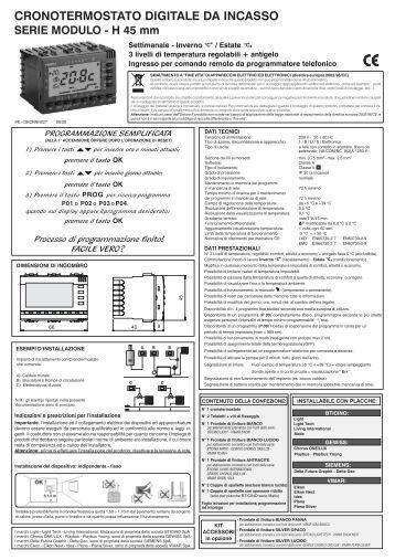 Ba famoso i t1 neu d for Cronotermostato perry istruzioni