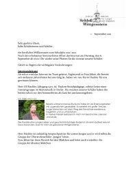 Elternbrief Sommer 2011 - Internat Schloß Wittgenstein