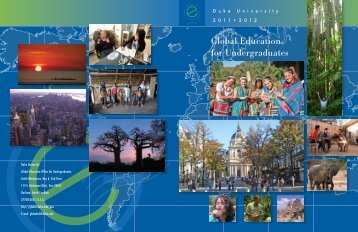 Duke Abroad Viewbook 2011-2012 - Duke University : Global ...