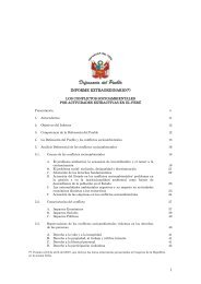 Los Conflictos Socioambientales por Actividades Extractivas