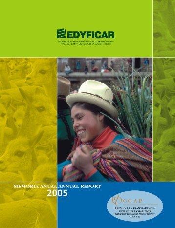 Memoria 2005 - Financiera EDYFICAR