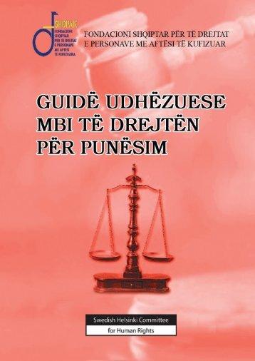 FSHDPAK - Guidë udhëzuese mbi të drejtën për punësim - Adrf.org.al