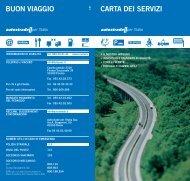BUON VIAGGIO CARTA DEI SERVIZI - Autostrade Meridionali SpA
