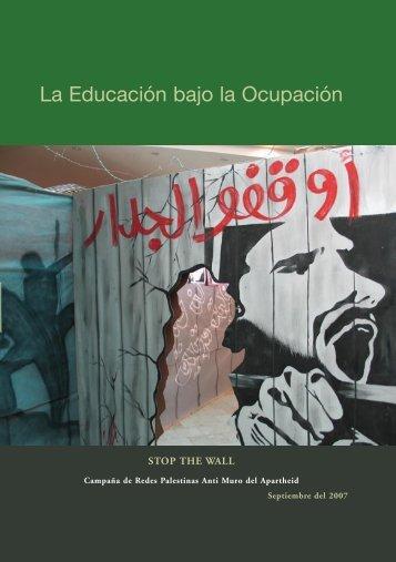 La Educación bajo la Ocupación