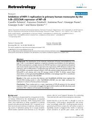 Inhibition of HIV-1 replication in primary human monocytes by the ...