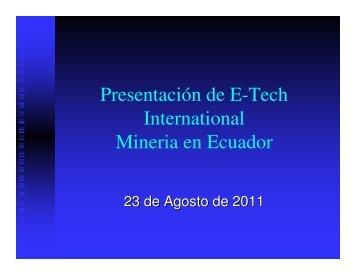 Download the PDF - E-Tech International