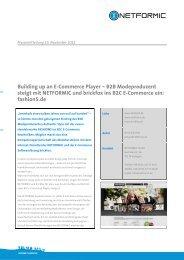 Building up an E-Commerce Player – B2B ... - Netformic