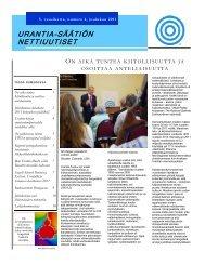 5. vuosikerta, numero 4, joulukuu 2011 - Urantia Foundation