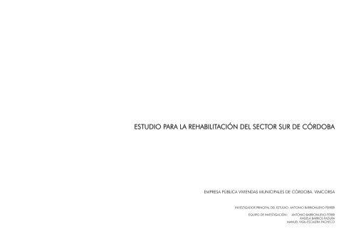 estudio para la rehabilitación del sector sur - Colegio Oficial de ...