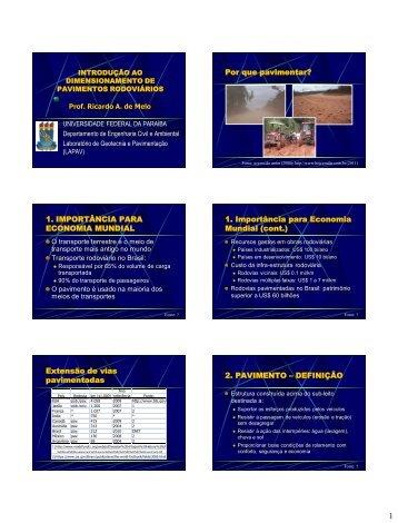 Dimensionamento de pavimentos - Universidade Federal da Paraíba