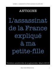 Antigone. « L'assassinat de la France - LibertyVox