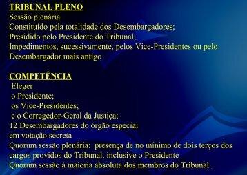 da presidência do tribunal - Cetecnet