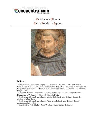 Santo Tomás de Aquino: Oraciones e Himnos