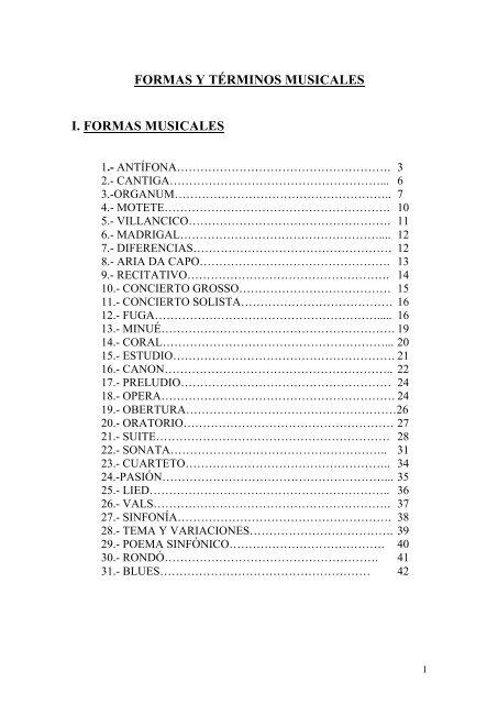 Formas Y Términos Musicales Pau