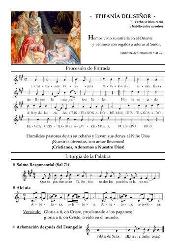 EPIFANÍA DEL SEÑOR - coro san clemente i
