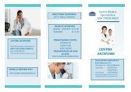 brochure centro antifumo - Centro Medico Specialistico San Francesco