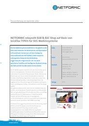 NETFORMIC relauncht B2B & B2C Shop auf Basis von brickfox ...