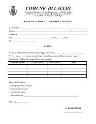richiesta certificato di idoneita' alloggio - Comune di Lallio