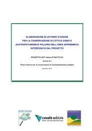 elaborazione di un piano d'azione per la conservazione di cottus ...