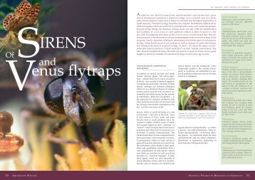 Of sirens and venus flytraps - Naturstoff-forschung.info