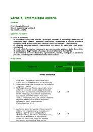 Corso di Entomologia agraria - Facoltà di Agraria - Università degli ...