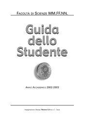 Guida dello Studente Guida dello Studente - Dipartimento di Fisica