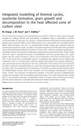 Integrated modelling of thermal cycles, austenite formation, grain ...