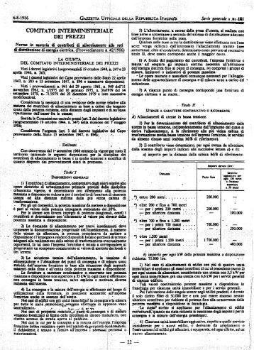 CIP n. 42/86 - Autorità per l'energia elettrica e il gas