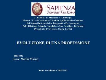 Dott.ssa Marina MACARI - Azienda Ospedaliera S.Camillo-Forlanini