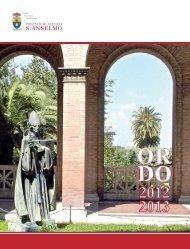 ordo 12 13 web - Pontificio Ateneo S. Anselmo