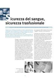 Sicurezza del sangue, sicurezza trasfusionale - AVIS Comunale ...