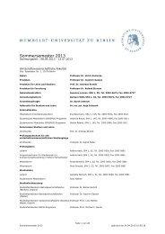 Unkommentiertes Vorlesungsverzeichnis SoSe 2013