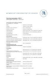 Kommentiertes Vorlesungsverzeichnis SoSe 2013