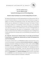 Prof. Dr. Joachim Gassen Prof. Dr. Bärbel Gertich Institut für ...
