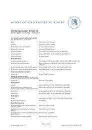 Kommentiertes Vorlesungsverzeichnis WS 2012/13