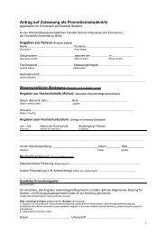 Antrag auf Zulassung zur Promotion - Wirtschaftswissenschaftliche ...