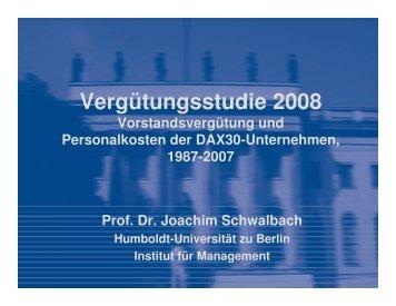 Vergütungsstudie 2008 - Humboldt-Universität zu Berlin