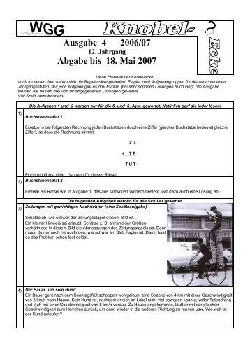 Blatt 4 2006/07
