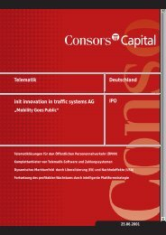 init innovation in traffic systems AG IPO Deutschland Telematik