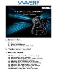 1. Základní údaje 2. Připojení kamery k počítači 3 ... - i4wifi as