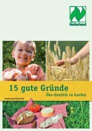 Broschüre 15 gute Gründe, Öko-Qualität zu kaufen - merzpunkt