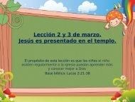 Jesus es presentado en el templo