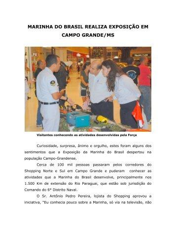 marinha do brasil realiza exposição em campo grande/ms