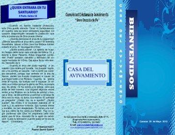 CASA DEL AVIVAMIENTO - Avivamiento Gran Cruzada de Fe