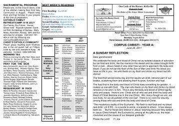 Bulletin 26 June 2011