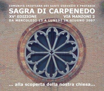 SAGRA DI CARPENEDO - La parrocchia dei Ss. Gervasio e ...