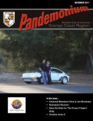 DECEMBER 2011 In this issue... Featured Members Chris & Jan ...