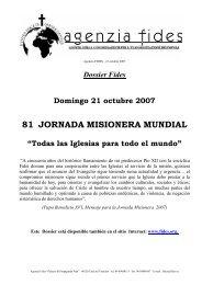 Jornada Mundial de las Misiones - Hijas de la Misericordia