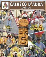 Anno 1 - Numero 3 - Ottobre 2008 - Comune di Calusco d'Adda