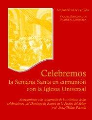 consideraciones liturgicas para semana santa - Arquidiócesis de ...